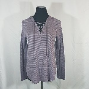 AEO Soft & Sexy Lace Up  Mauve  Hooded Top